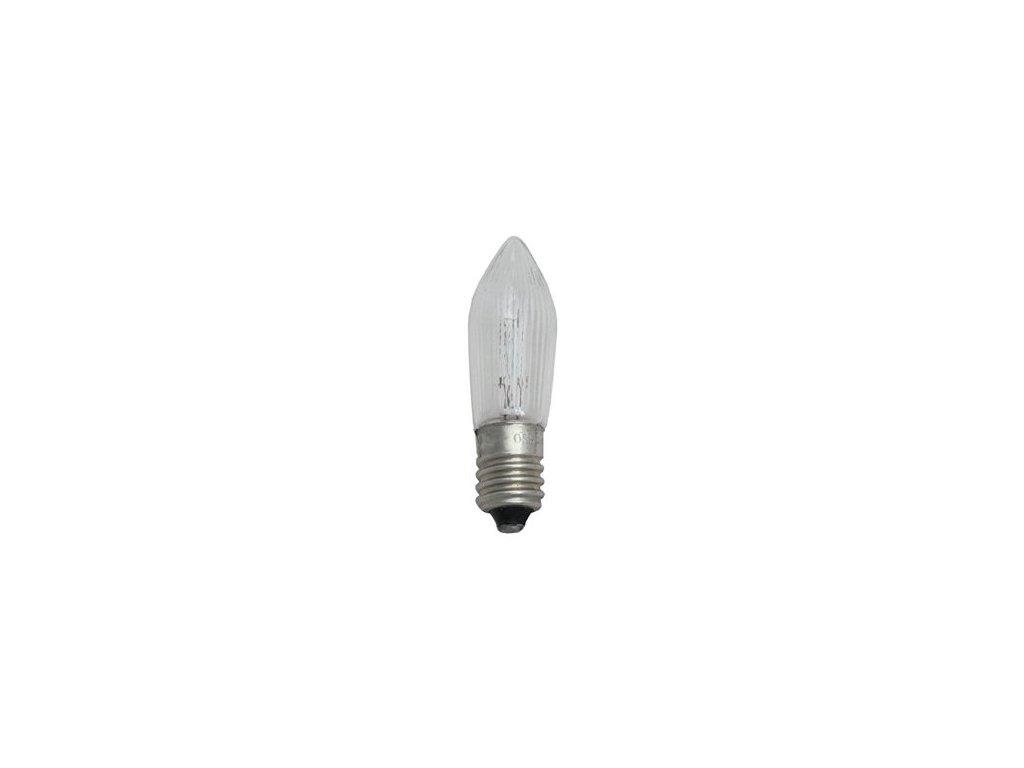 Žiarovka 14V 3W E10 vianočná-číra