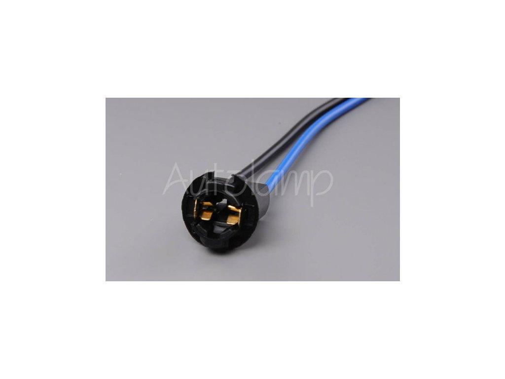 AUTOLAMP Držiak žiarovky W2,1X9,5d T10/T13/T15 plastový čierny
