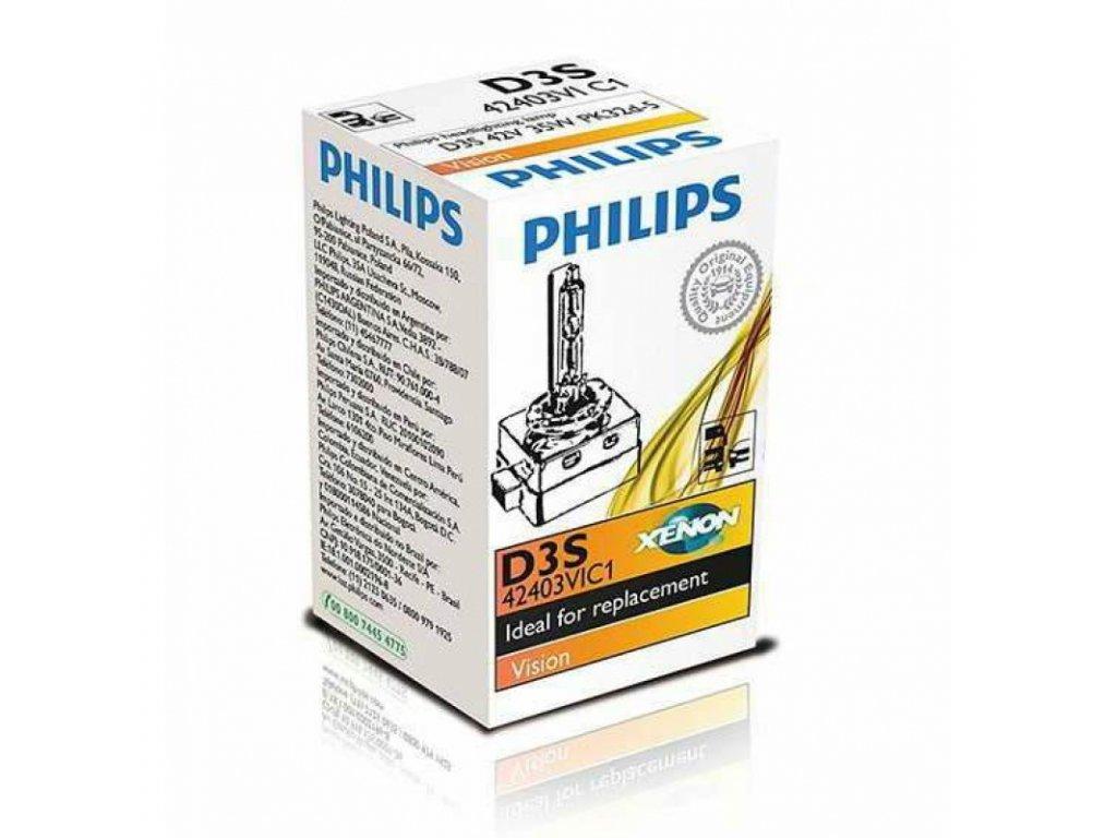 PHILIPS Výbojka xenónová D3S 42V 35W Vision