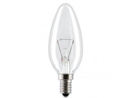 Žiarovka 130V 60W E14 sviečka číra 35x100mm