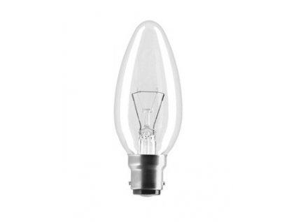 Žiarovka 230V 25W B22D  FD1170 sviečka-číra 35x100mm