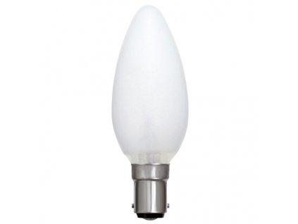 Žiarovka 130V 40W E14 sviečka matná 35x100mm