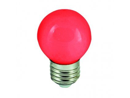 Žiarovka 230V 15W E27 červená malá 45x70mm