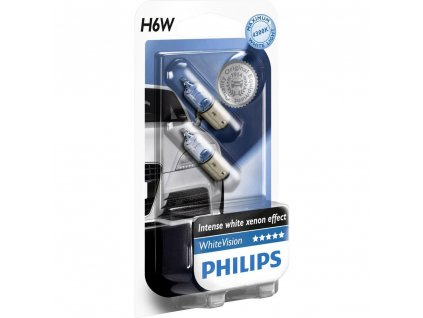 Philips WhiteVision 12V 6W BAX9s H6W - set 2ks