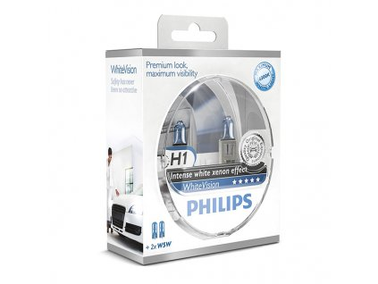 Philips WhiteVision H1/12V 55W P14,5s + W5W zadarmo -set 2ks