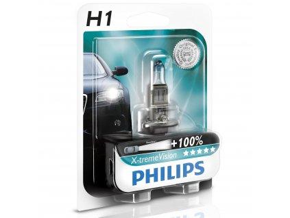 Žiarovka 12V H1 55W P14,5s X-tremeVision - blister 1ks +130%