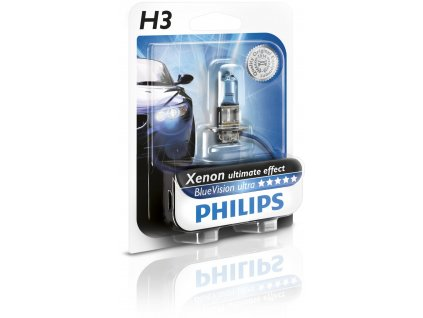 Philips BlueVision Ultra H3/12V 55W PK22s blister1ks