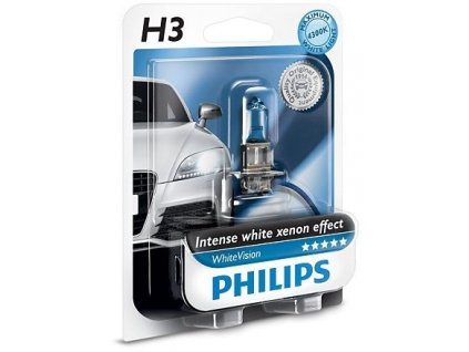 Philips WhiteVision H3/12V 55W PK22s - blister 1ks