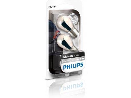 Philips SilverVision 12V 21W BAU15s PY21W - set 2ks