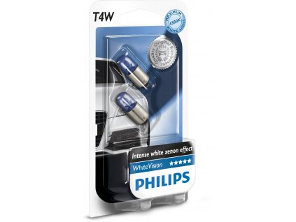 Philips WhiteVision 12V 4W Ba9s T4W - set 2ks