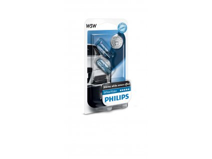Philips WhiteVision 12V 5W W2,1x9,5d W5W - set 2ks