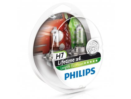 Philips EcoVision H7/12V 55W PX26d - set 2ks