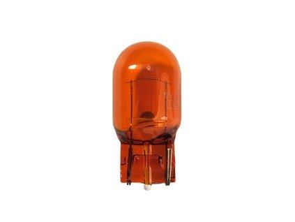 Žiarovka 12V 21W W3x16d celoskl.- červená