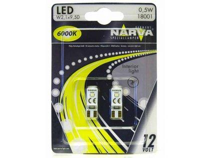 LED - 12V W2,1x9,5d (W5W) 6000K