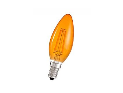 Žiarovka 240V 25W E14 sviečka-oranžová