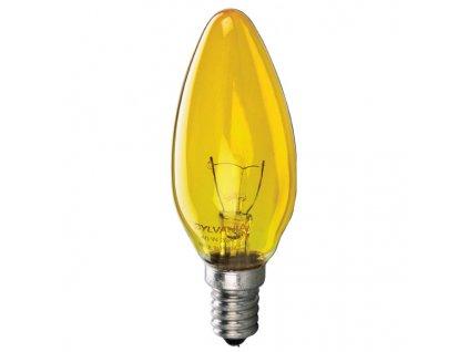 NARVA BEL Žiarovka 240V 25W E14 sviečka-žltá 005856