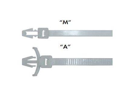 "Elematic Páska viaz. do otvoru 100 X 4,5mm biela ""A""- 100ks- bal."