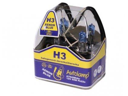 Autolamp Xenon Blue H3/12V 55W PK22S sada 2ks