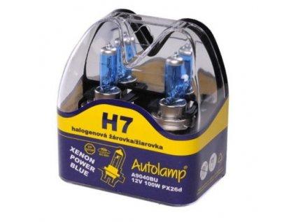 Autolamp Xenon Power Blue H7/12V 100W PX26d sada 2ks  sada 2ks
