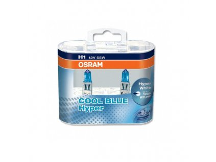 Osram Cool Blue Hyperbox H1/12V 55W H1 P14,5s set 2ks