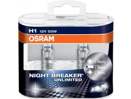 vyr 245 Ziarovka OSRAM Night Breaker Unlimited H1 12V 55W P14 5s Set 2ks