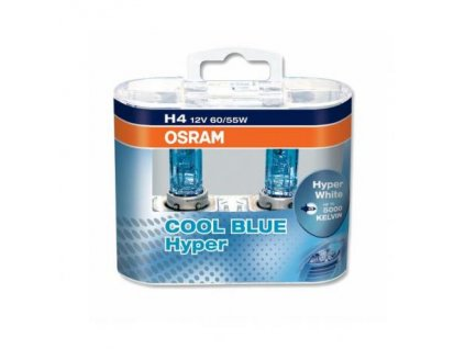 Žiarovka 12V 60/55W H4-Cool Blue Hyper Box-2ks