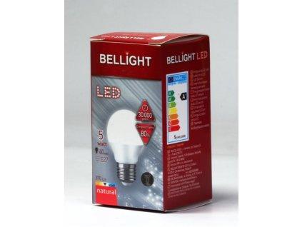 BELLIGHT LED  220-240V G45 5W E27 370lm neutrálna iluminačná