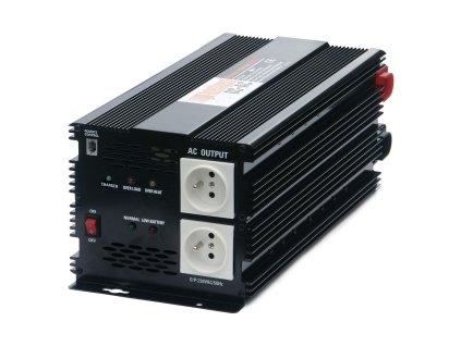 Menič napätia + dobíjačka akumulátorov 12V/230V 2500W