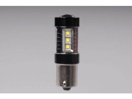 A-LED 12V-24V (P21W) BA15s čirá 16xLED 80W CANBUS