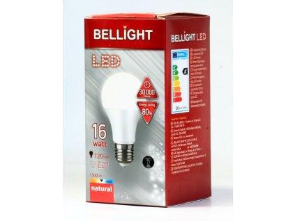 led 220 240v a65 16w e27 bellight 1500lm neutralna biela i27249