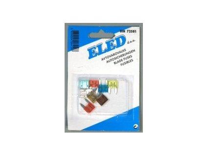 Blister mini-nožovej poistky - 10ks ELED
