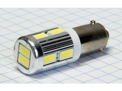 A-LED 12V (H6W) Bax9s číra 10xSMD