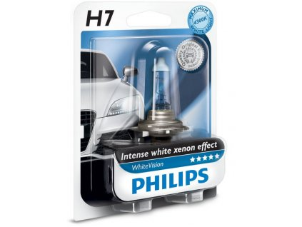 Philips WhiteVision H7/12V 55W PX26d - blister 1ks