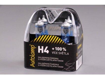 Autolamp H4/12V 60/55W +100% svietivosť - sada 2ks
