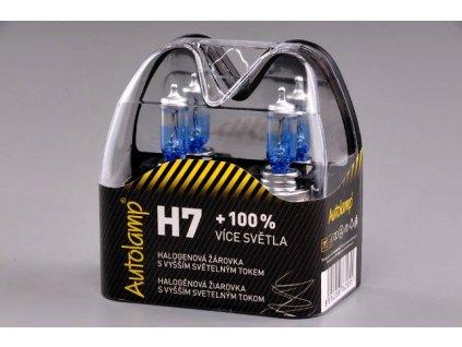 Autolamp H7/12V 55W PX26d +100% svietivosť -sada-2ks
