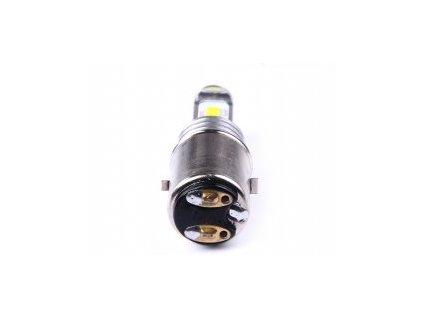 pre napätie 12V a 24V 2ks CSP chipy pätica  BA20d vysoký svetelný tok 1000/300lm  Farba svetla 6000K odber prúdu pri 13,8V: 0,7A / 0,2A (9,7W/2,7W) rozmer 61x20mm zákaz používánia na verejných komunikáciách (LED nie je určená pre vonkajšie osvetlenie vozidiel)
