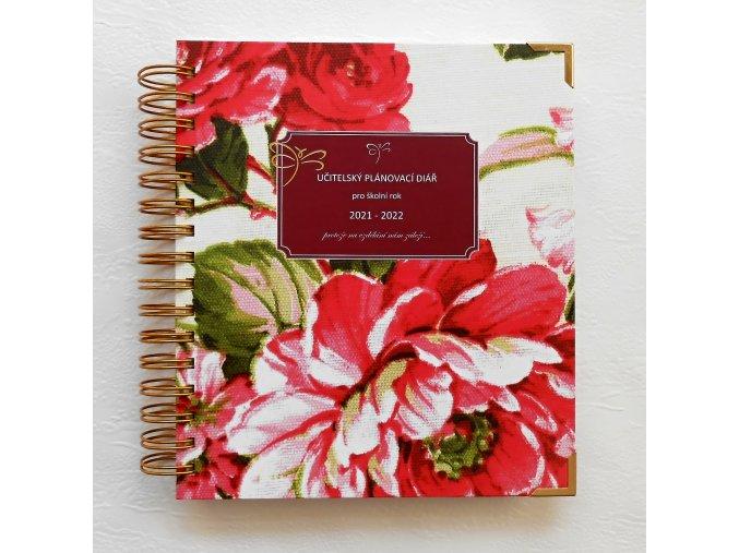 Učitelský plánovací diář Pink Roses