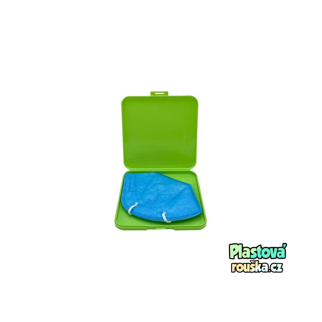 Pouzdro na respirator nebo rousku zelena