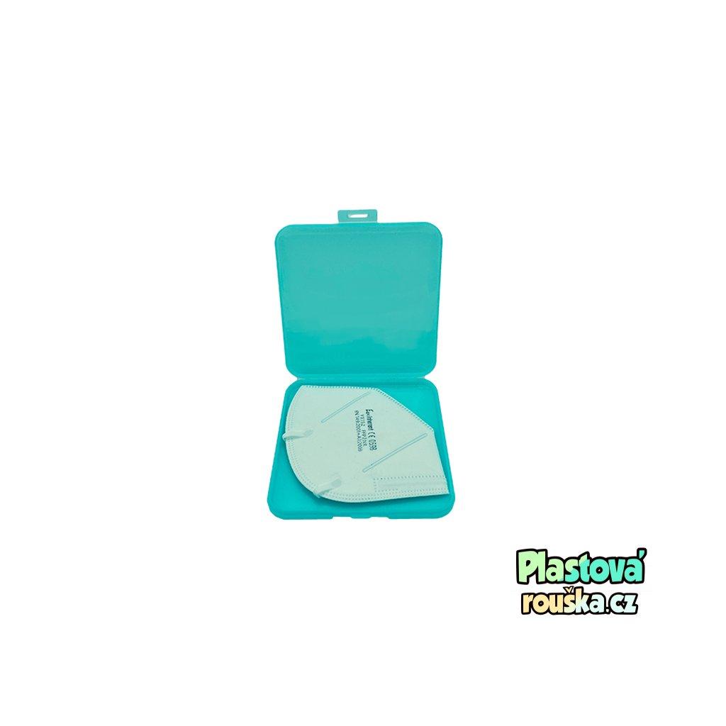 Pouzdro na respirator nebo rousku svetle zelena