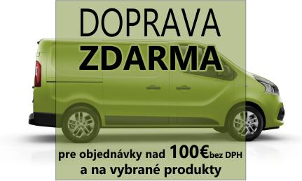 Doprava zdarma nad 100€ bez DPH