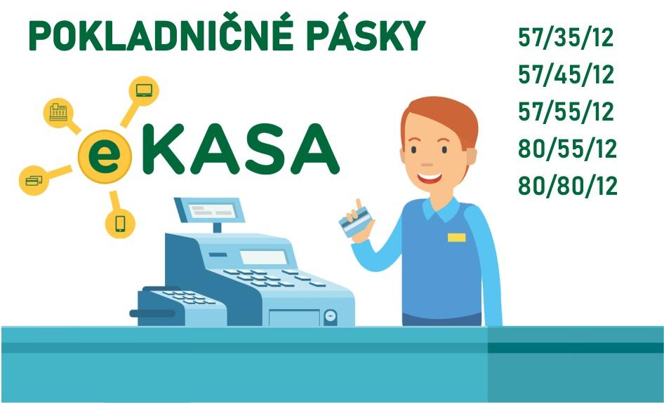 E-kasa pokladničné pásky