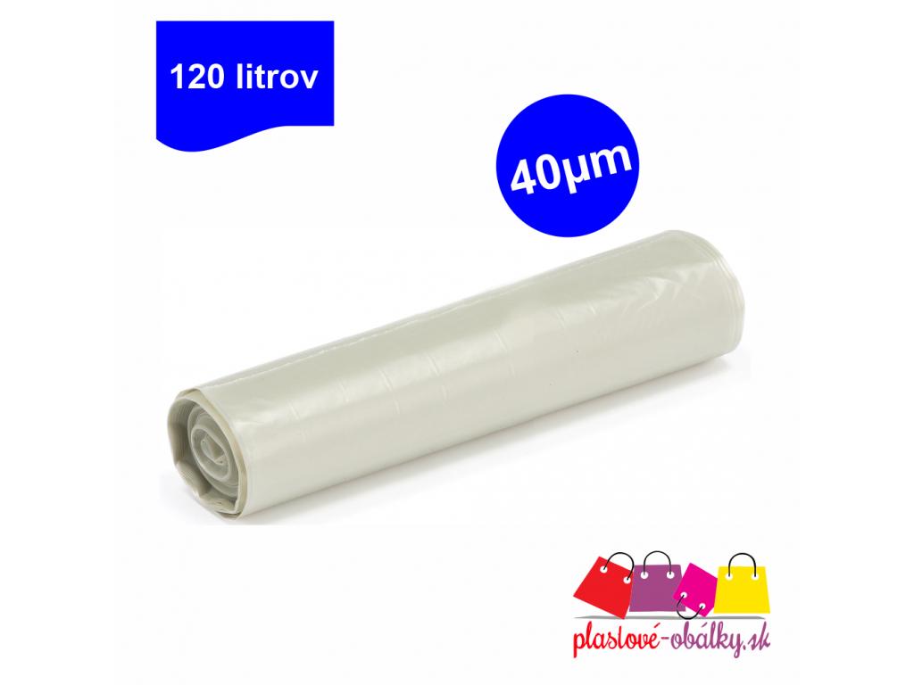 120l vrecia transparentné 40µm rolované