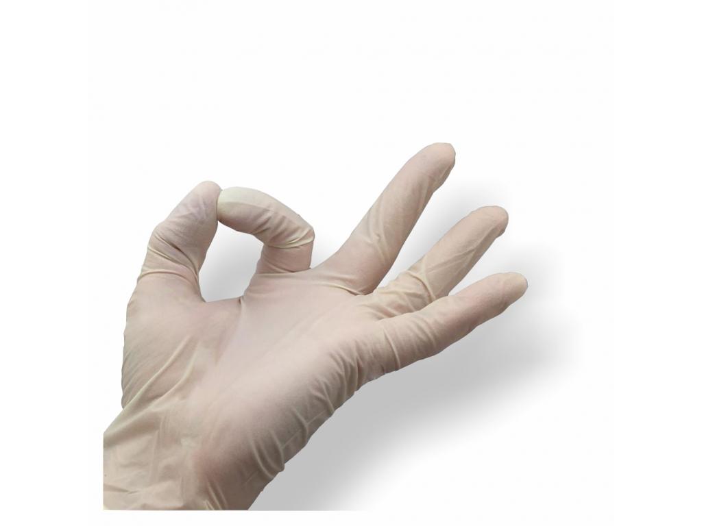 Rukavice Latex pudrované