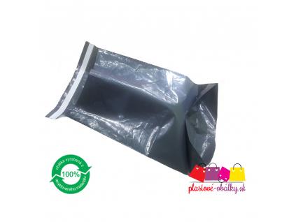 Plastové obálky šedé 60µm ECONOMY so záložkou