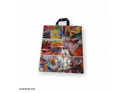 aTašky nákupné vzorovanéLLDPE nakupna taska vzorovana plastove obalky