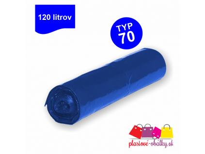 120l Vrecia na odpad TYP 70 farebné rolované