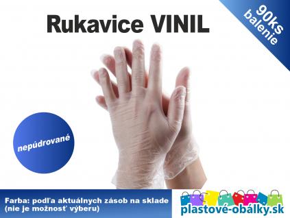 vinilové rukavice plastové obálky