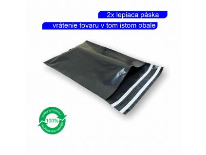 Plastové obálky šedé s dvojitou páskou 60µm ECONOMY
