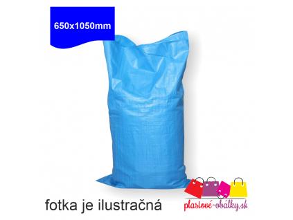 Polypropylenové tkané MODRÉ vrecia 650x1050 mm