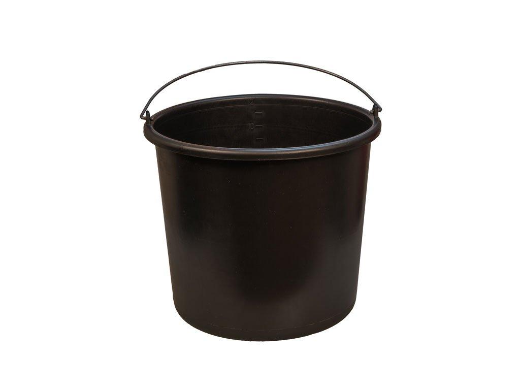 Plastové vedro čierne 3